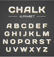 3D Chalk Alphabet vector image