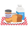 a breakfast set on white background vector image vector image