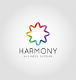 abstract color harmony logo vector image