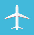 airplane in the sky commercial airplane in top vector image vector image