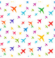airplane seamless background aircraft vector image vector image