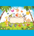 animals banner vector image vector image