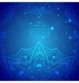 Blue Indian Vintage Ornament vector image vector image