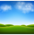 blue sky and landscape vector image vector image