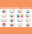 business infographics diagrams charts with 7 vector image vector image