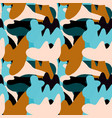 camouflage bright seamless pattern brown blue vector image vector image