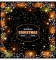Christmas glowing greetings vector image