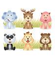 cute animals collection vector image vector image