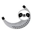cute sloth bear animal vector image vector image