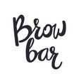 design logo for brow bar brow bar lettering text vector image vector image