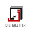 digital square initial letter j logo concept vector image vector image