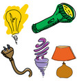 drawn light equipment vector image vector image