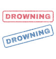 drowning textile stamps vector image vector image