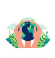 earth day concept clean ecology our planet vector image vector image