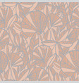 elegant pastel color modern jungle leaves pattern vector image vector image