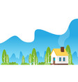 family home in flat style vector image