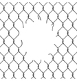 Fence chain with hole vector image vector image