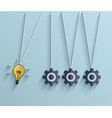 flat idea business background Eps 10 vector image