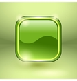 Glossy square empty button vector image vector image