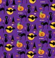 halloween cats vector image vector image