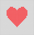 heart red on grey vector image vector image