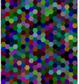 Hexagonal tile mosaic background vector image vector image