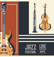 jazz festival design vector image