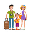 journey trip vacation happy family travels vector image vector image