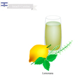 Lemonana or in Israeli Frozen Mint Lemon Juice vector image vector image