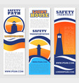 lighthouse safety transportation banners vector image vector image