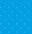 little plant pattern seamless blue vector image vector image