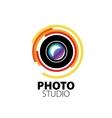 logo for photo studio vector image vector image