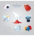 magician icons vector image vector image
