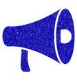 megaphone icon grunge watermark vector image
