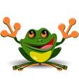 Merry frog vector image vector image