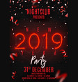 neon flyer for happy new year party vector image