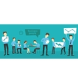 Office startup company people working vector image vector image