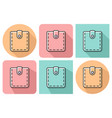 outlined icon of wallet with parallel vector image vector image
