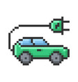 outlined pixel icon electric car fully editable vector image