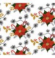 Poinsettia flower pattern vector image vector image