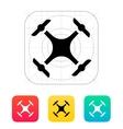Quadcopter drone icon vector image vector image