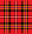 red and yellow tartan seamless pattern vector image vector image