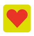 red heart shape vector image vector image