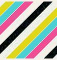 retro colors diagonal lines background pop-art vector image vector image