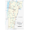 road map us american state vermont vector image