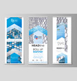 roll up banner stands flat design templates vector image vector image