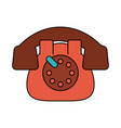 rotary phone vintage icon image vector image vector image