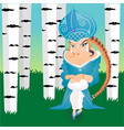 russian fairytale snow maiden girl with kokoshnik vector image