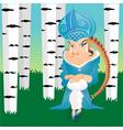 russian fairytale snow maiden girl with kokoshnik vector image vector image