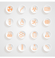 Science Series Icons button shadows set vector image vector image